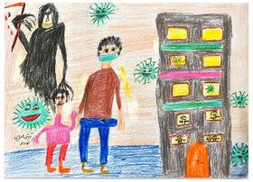 کودک همدانی در بخش نقاشی مهرواره «ستارههای بینشان» برگزیده شد