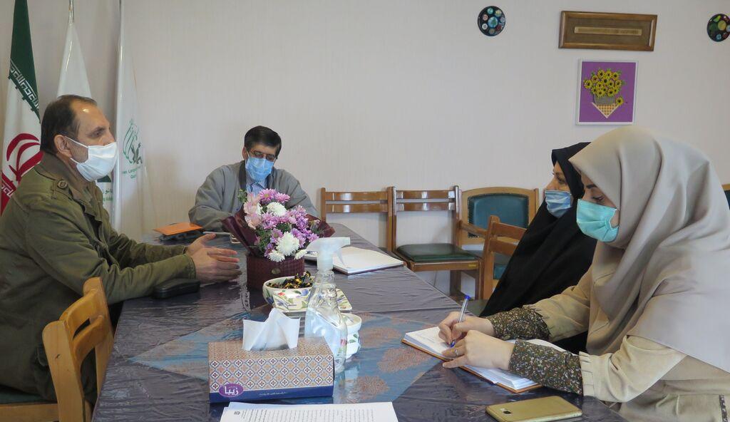 نشست مدیرکل کانون قزوین با مدیر بنیاد مهدویت استان