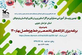 نهمین وبینار مسئولین مراکز کانون استان برگزار شد