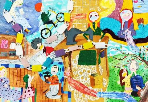 مینا فرشاد از خراسان جنوبی برگزیدگان بخش نقاشی مهرواره «ستارههای بینشان»