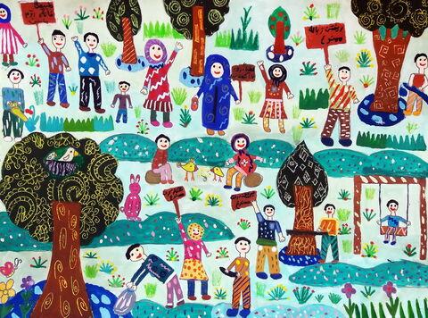 هستی جهانبانی» ۱۱ ساله از اصلاندوز اردبیل دارنده لوح تقدیر و نشان برنزی مسابقه بینالمللی نقاشی کودکان انجمن هیکاری کشور ژاپن