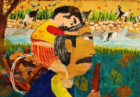 «مهدی قربانی» ۹  ساله عضو کانون اسفراین خراسان شمالی برنده دیپلم افتخار مسابقه بینالمللی نقاشی کودکان انجمن هیکاری کشور ژاپن