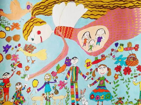 «تارا جعفری» عضو۷ ساله کانون کرمانشاه دارنده لوح تقدیر و نشان طلایی مسابقه بینالمللی نقاشی کودکان انجمن هیکاری کشور ژاپن - چپگرد