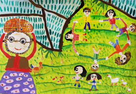 دیپلم افتخار مسابقه نقاشی هیکاری ژاپن در دستان کودک گیلانی