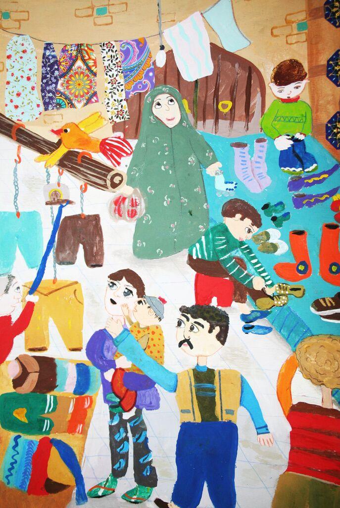 درخشش عضو کانون گز برخوار در مسابقه نقاشی هیکاری ژاپن
