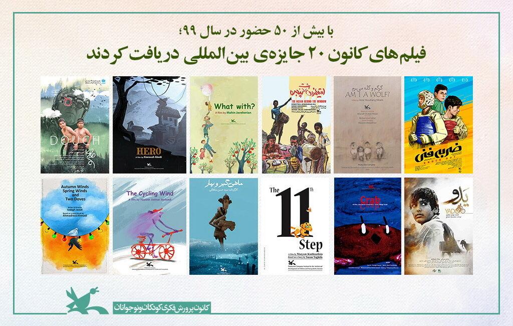 فیلمهای کانون ۲۰ جایزهی بینالمللی دریافت کردند