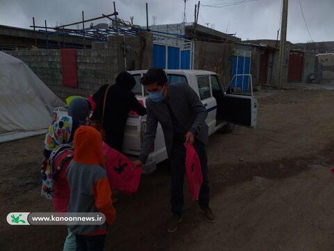 امداد فرهنگی کانون پرورش فکری کهگیلویه و بویراحمد به کودکان زلزله زده سی سخت