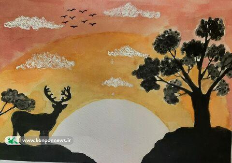 آثار تولیدی کودکان و نوجوانان استان به منظور شرکت در بیست و دومین مسابقه بیــن المللی نقاشـی « اوورا» کشور پرتغال