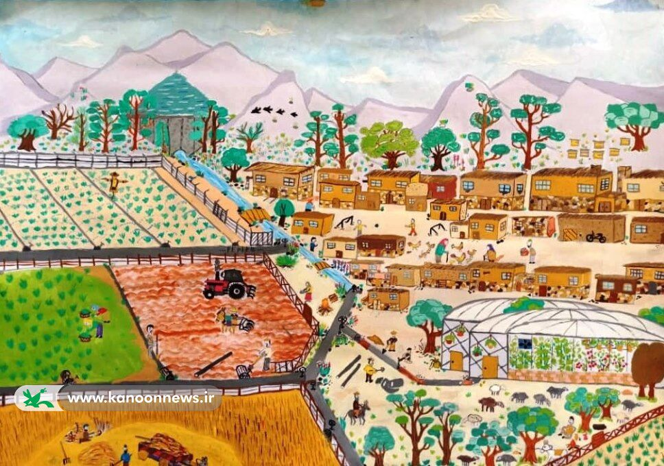 درخشش عضو مرکز فرهنگی هنری کانون بشرویه در نخستین جشنواره ملی نقاشی آب