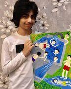 درخشش عضو نونگاه هرمزگانی در نخستین جشنواره ملی نقاشی آب