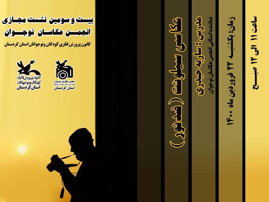 اولین نشست مجازی انجمن عکاسان نوجوان استان کردستان در سال 1400برگزار شد