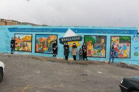 نقاشیهای برگزیده نوجوانان بر دیوار محلات تبریز