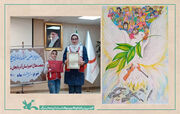 """کیمیا موسوی برگزیده هفتمین جشنواره ملی نقاشی """"صلح و دوستی"""" هلال احمر"""