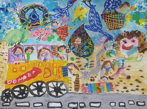 آثار راه یافته کودکان و نوجوانان خوزستانی به مرحلهی نخست «اولین جشنوارهی جهانی نقاشی کودک کرمان»