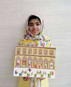 مدال طلای«اولین جشنوارهی جهانی نقاشی کودک کرمان» به عضو کانون فارس رسید