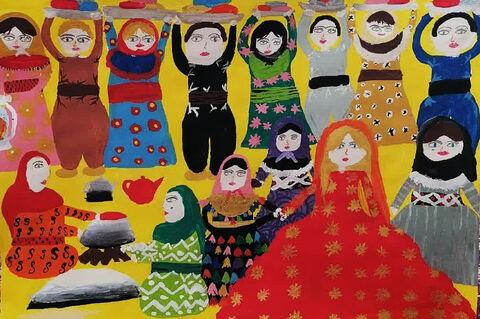 «پریا نبیزاده» عضو مرکز شماره یک کانون مهاباد  در استان آذربایجان غربی برنده مدال نقره
