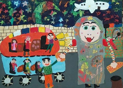 اثر هنری «سوین مبارکی» از مرکز شماره ۴ کانون اردبیل تقدیر شده از نخستین جشنواره جهانی نقاشی کودک کرمان