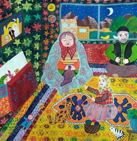 اثر هنری «مریم رحیمی» از مرکز شماره 2 کانون اردبیل تقدیر شده از نخستین جشنواره جهانی نقاشی کودک کرمان