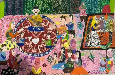 اثر هنری «مهشید محسنزاده» از مرکز شماره 2 کانون اردبیل تقدیر شده از نخستین جشنواره جهانی نقاشی کودک کرمان