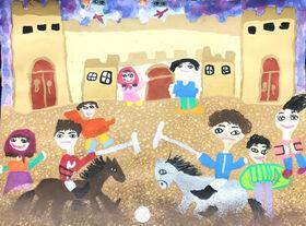 Shining of the members of Kanoon in Children International Painting Festival of Kerman
