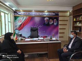 مدیرکل کانون استان کرمانشاه با فرماندار صحنه دیدار کرد