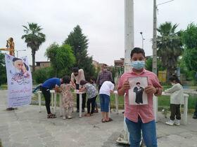 کارگاه نقاشی«کودکانه با امام و شهدا» در مینودشت