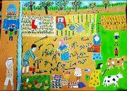 """کودک ١٢ساله گلپایگانی برگزیده جشنواره ملی نقاشی """"کمانک"""""""