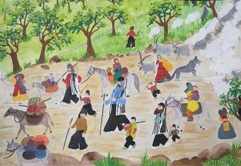نقاشی «علی تامرادی» ۱۱ ساله عضو کانون باغملک خوزستان برنده نشان طلا از چهارمین مسابقه بینالمللی نقاشی کشور رومانی
