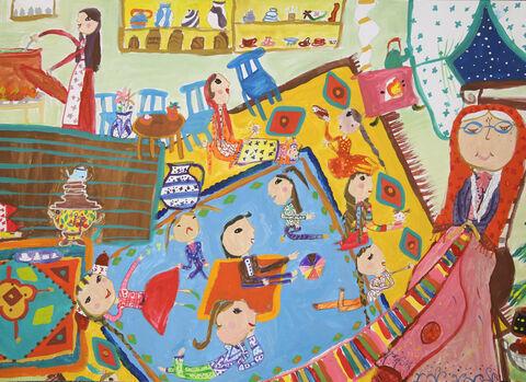 نقاشی «سارینا سهیلی» ۱۰ ساله، ازمرکز مجتمع کانون کرمانشاه برنده نشان نقره ازچهارمین مسابقه بینالمللی نقاشی کشور رومانی