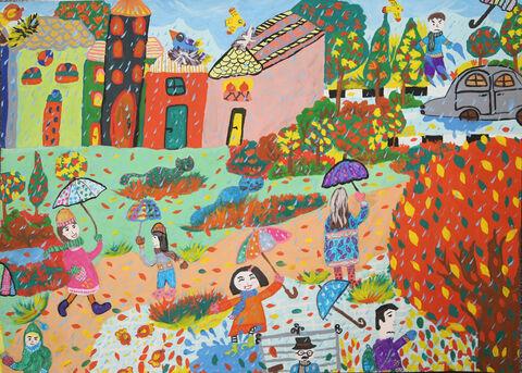 نقاشی «دیانا ویسی» ۱۱ ساله ازمرکز مجتمع کانون کرمانشاه برنده نشان نقره ازچهارمین مسابقه بینالمللی نقاشی کشور رومانی