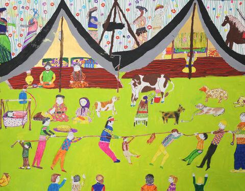 نقاشی «رضا گراوندی» ۱۲ ساله ازمرکز مجتمع کانون کرمانشاه برنده نشان نقره ازچهارمین مسابقه بینالمللی نقاشی کشور رومانی
