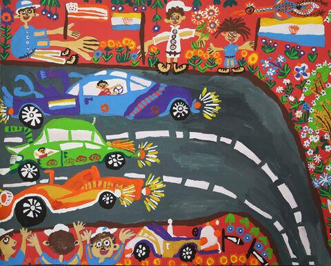 نقاشی  «کیارش صمیمیتبار» ۹ ساله عضو مرکز شماره ۳ کرمانشاه برنده نشان نقره ازچهارمین مسابقه بینالمللی نقاشی کشور رومانی