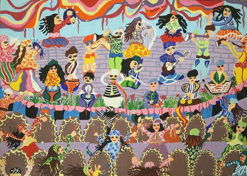 نقاشی«محمدرضا مسعودینیا» ۱۴ ساله عضو کانون کرمانشاه برنده جایزه ویژه از چهارمین مسابقه بینالمللی نقاشی کشور رومانی
