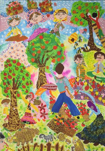 نقاشی«نهال دیدهبان» عضو ۹ ساله کانون کرمانشاه برنده جایزه ویژه از چهارمین مسابقه بینالمللی نقاشی کشور رومانی