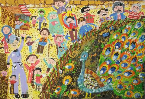 نقاشی«نازنین ساداتی» عضو ۹ ساله کانون کرمانشاه برنده جایزه ویژه از چهارمین مسابقه بینالمللی نقاشی کشور رومانی