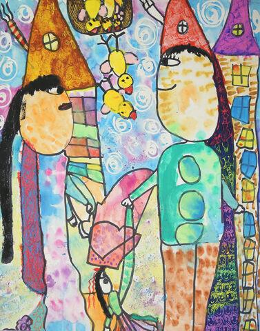 نقاشی«آوا جلویانی» ۷ ساله از کانون کرمانشاه برنده جایزه ویژه از چهارمین مسابقه بینالمللی نقاشی کشور رومانی