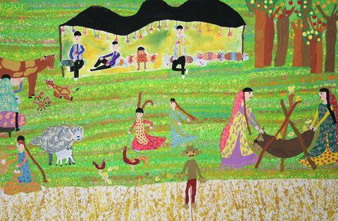 نقاشی«آناهید آموزش» عضو ۸ ساله کانون اهواز برنده جایزه ویژه از چهارمین مسابقه بینالمللی نقاشی کشور رومانی