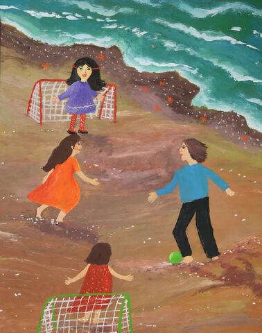 نقاشی«هستی زنگنه» ۱۱ ساله از کانون شهر قدس تهران برنده جایزه ویژه از چهارمین مسابقه بینالمللی نقاشی کشور رومانی