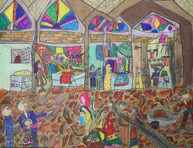درخشش کودکان کرمانشاهی در مسابقه نقاشی رومانی