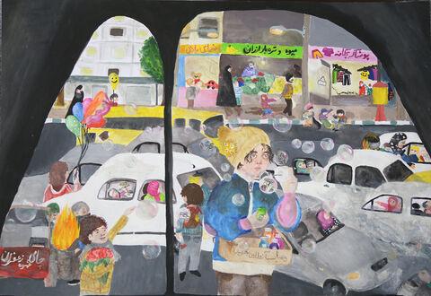 «مریم یزدانی» ۱۳ ساله عضو کانون اهواز برنده نشان طلا از چهارمین مسابقه بینالمللی نقاشی کشور رومانی