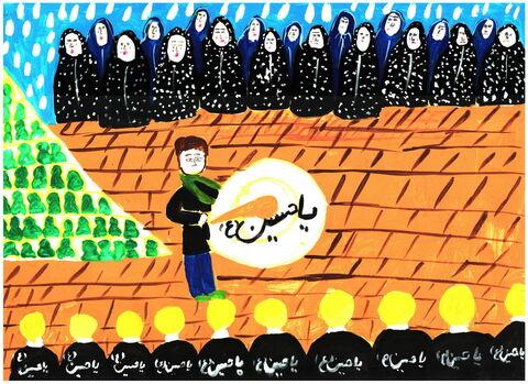 گشایش نمایشگاه مجازی نقاشی کودکان با عنوان «گلهای تشنه لب»