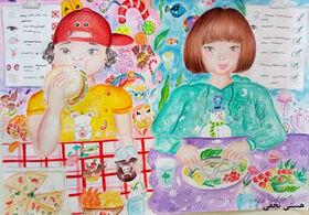 """نمایشگاه آثار برگزیدگان فراخوان مسابقه نقاشی """"ماهی غذای سلامت"""""""