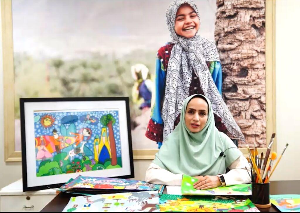 دعوت مربی کانون از بچهها برای شرکت در کارگاههای نقاشی