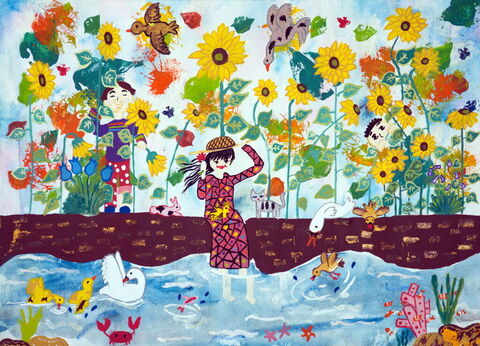 Aileen Alizadeh, 12, from Jahrom, Fars Province, winner of the first award of the international section