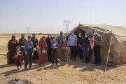 حضور مربیان کانون پرورش فکری کودکان و نوجوانان در چادر عشایر ایل اکبری