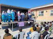 کاروان «هزاران لبخند» کانون گلستان در میان کودکان گمیشانی