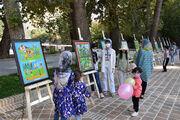 ایستگاه نقاشی و نمایشگاه نقاشی در خرم آباد برگزارشد