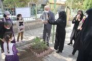 مراسم کاشت نهال در کانون مهاباد به نام فرهاد حسنزاده نویسنده حوزه کودک