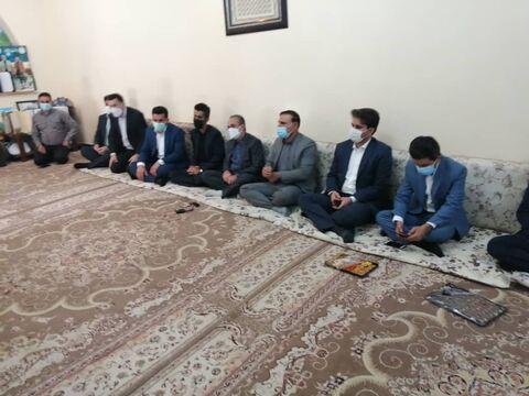 دیدار مدیرعامل کانون با خانواده شهید علی لندی در ایذه