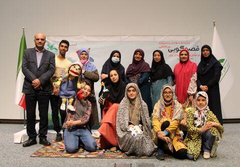 گزارش تصویری رقابت قصه گویان برترقم درجشنواره منطقه ای